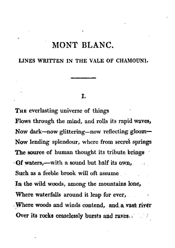 Mont Blanc - Shelley 1